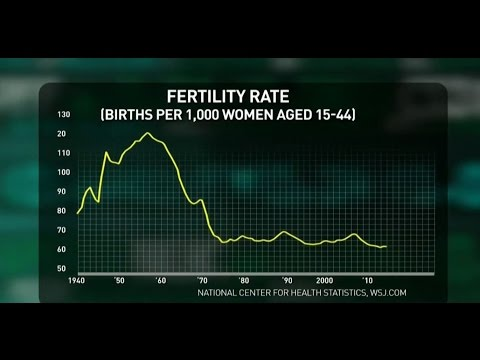 What does the birth rate say about the US economy?