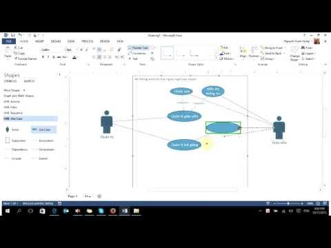 UML-Thưc hành- vẽ biểu đồ usecase bằng visio