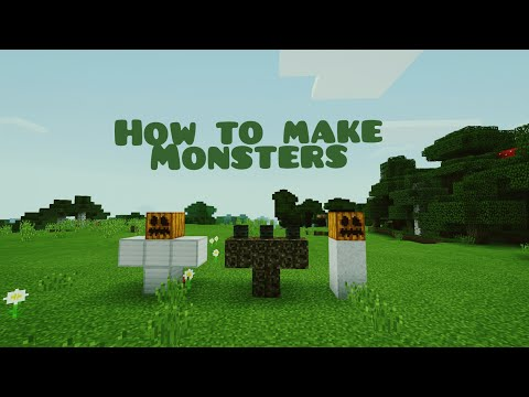 Minecraft: How to make monsters.