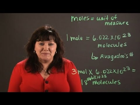 How to Convert Moles to Molecules : Chemistry and Physics Calculations
