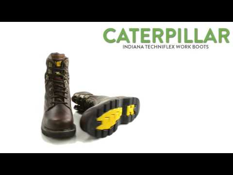 """Caterpillar Indiana Techniflex Work Boots - 8"""", Steel Toe (For Men)"""