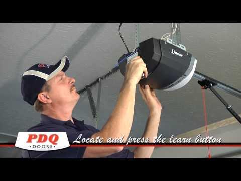 How to Program a Linear and Liftmaster Garage Door Opener.  PDQ Doors Cincinnati Ohio