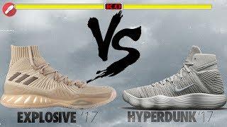 quality design 2f76a 1cd27 Adidas Crazy Explosive 2017 Primeknit vs Nike Hyperdunk 2017 Flyknit React!