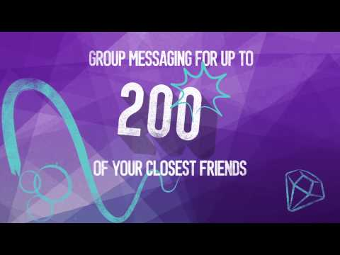 Start  a group chat with your closest friends!