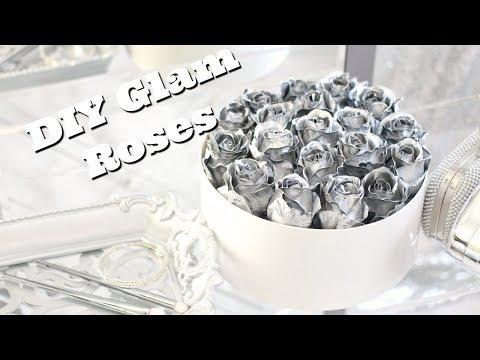DIY Metallic Roses | Instagram Flowers | How to Spray Paint Artificial Flowers