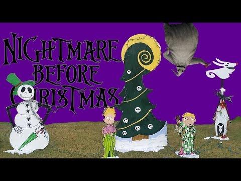 NIGHTMARE BEFORE CHRISTMAS YARD DECOR JACK SKELLINGTON SALLY OOGIE BOOGIE ZERO CHRISTMAS EDITION!