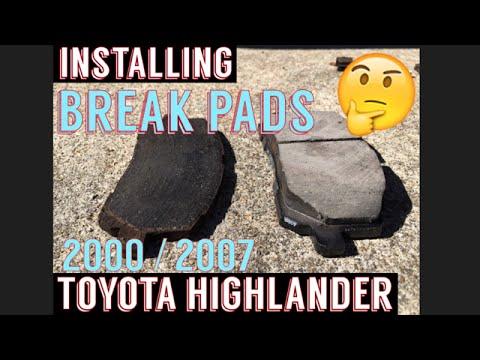 Toyota Highlander Brake Pad Install 00-07
