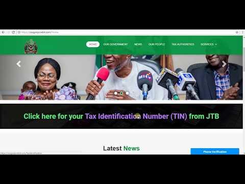 Tax Identification Number (TIN) Registration