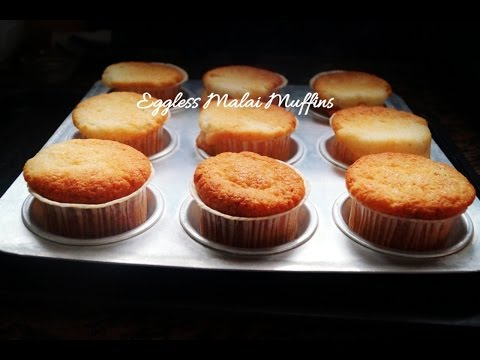 Eggless Malai Muffins in Convention Microwave (Eggless creamy cardamom Cupcakes)