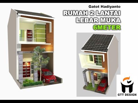 Desain Rumah Minimalis Lebar 4 Meter  rumah minimalis 2 lantai lebar 4 meter 2020 rumah