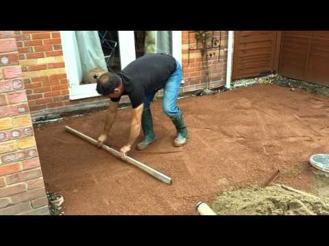 Preperation Of Subbase For Laying Indian Sandstone
