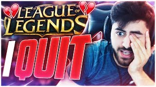 Yassuo | THAT'S IT! I'M QUITTING LEAGUE TILL RIOT FIXES THE GAME!