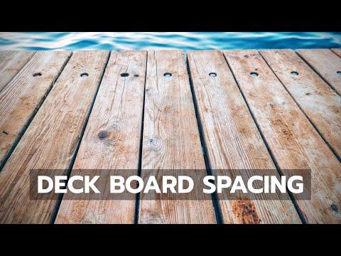 Q&A Deck Board Spacing