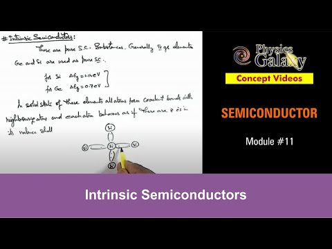 11. Physics | Semiconductor & its Types | Intrinsic Semiconductors | by Ashish Arora