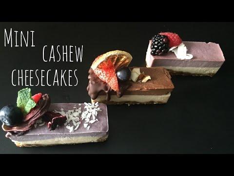 Mini Cashew Cheesecakes // Layered // Raw // Vegan // Gluten Free // Breaking Chegan