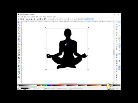 How to trace a bitmap image to a vector SVG file using Inkscape