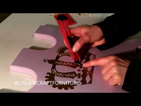 Making a Princess Castle Crown Plaque Time Lapse