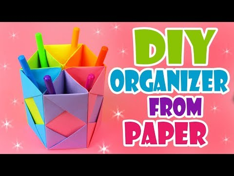 DIY DESK ORGANIZER PAPER TUTORIAL SO-SO EASY