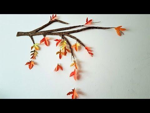DIY Autumn/Fall Tree Branch - Room Decor ♥ USING CARDBOARD!