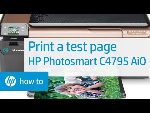 Printing a Test Page - HP Photosmart C4795 All-in-One Printer