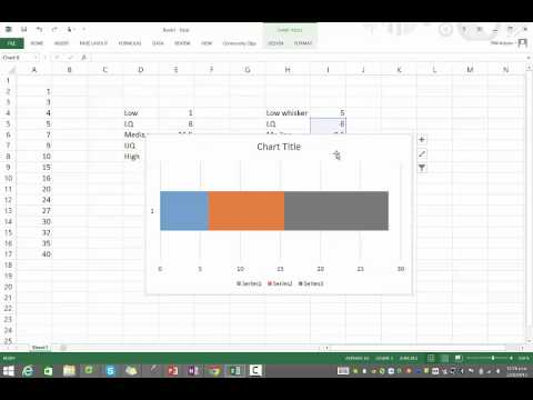 Creating a box and whisker graph in Excel 2013