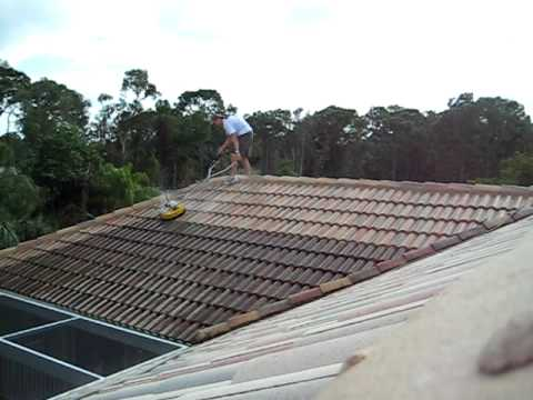 Time Laps of a Barrel tile roof