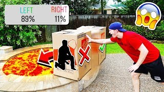 DON'T PUSH THE WRONG MYSTERY BOX INTO LAVA!