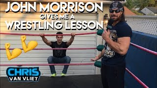 John Morrison teaches me how to wrestle in his backyard