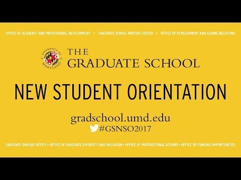 2017 New Graduate Student Orientation