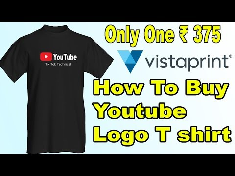 How To Buy Youtube Logo T shirt || in India Only One ₹ 375