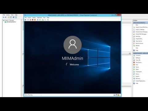 Installing Windows 10 Pro into a Hyper-V Virtual Machine