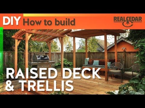 How to build : RAISED DECK & TRELLIS - RealCedar.com