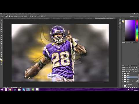 Photoshop | How to make a simple sports edit | Software