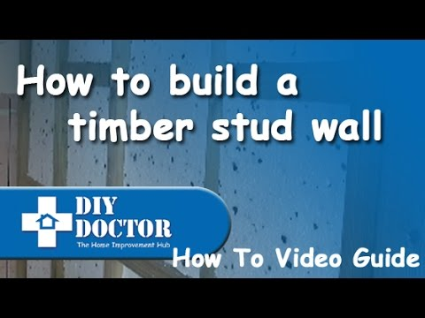How to build a timber stud or partition wall
