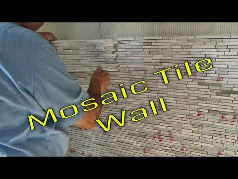 Steam Shower Part 6 Glass Mosaic Marble mix  Tub Area Accent  wall