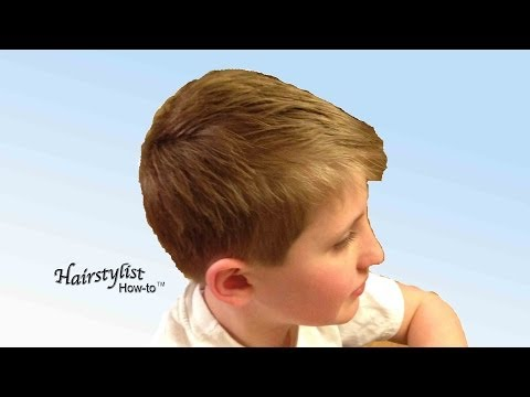 How to do a Boy's Haircut, Scissor Over Comb, Dry Haircutting