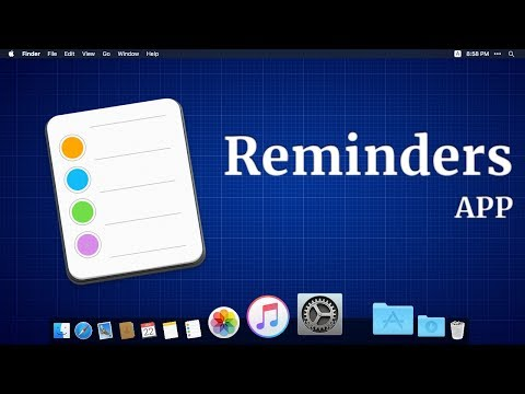 How to use the reminders app on the MacBook (with Subtitles)
