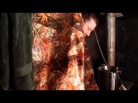 8 Weeks Winter Camping - DIY Shower In Tent