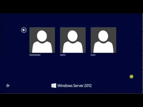 How to create a user account on Windows Server 2012