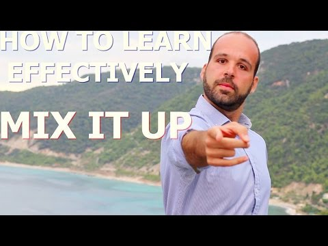 How to Learn Effectively Anything - Mix It Up