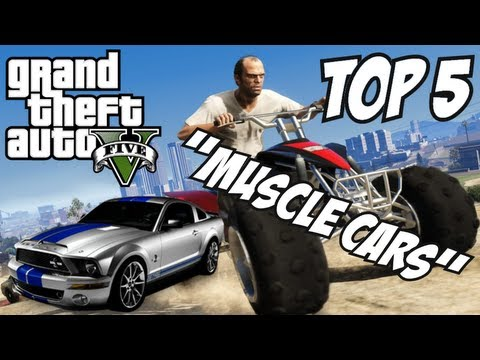 Gta 5 Top 5 Muscle Cars Gta V Muscle Cars Playithub Largest
