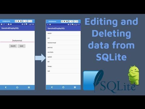 Editing and deleting data from an SQLite database [Beginner Android Studio Example]