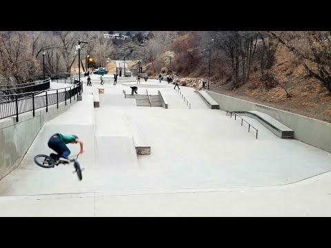 One Run Through The Durango Colorado skatepark On My Dirt Jumper