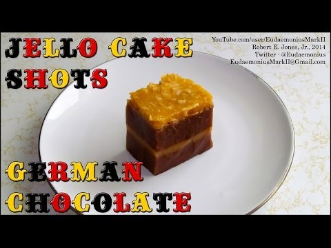 How To Make GERMAN CHOCOLATE CAKE JELLO SHOTS - Day 16,364