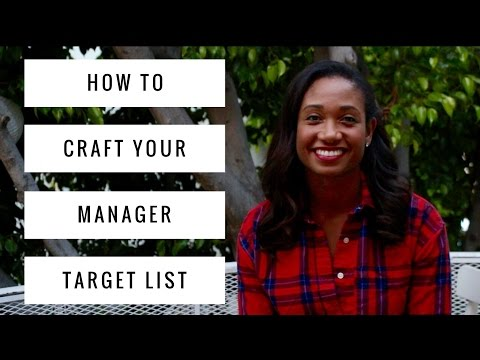 How To Make Your Talent Manager Target List   Acting Resource Guru