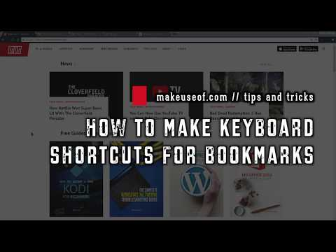 How to Make Keyboard Shortcuts for a Bookmark