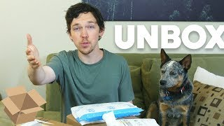 Unboxing Haul With Arlo the Phone Dog! (May 2018)