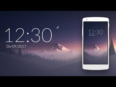 Widget Design in android Studio #1 : digital clock