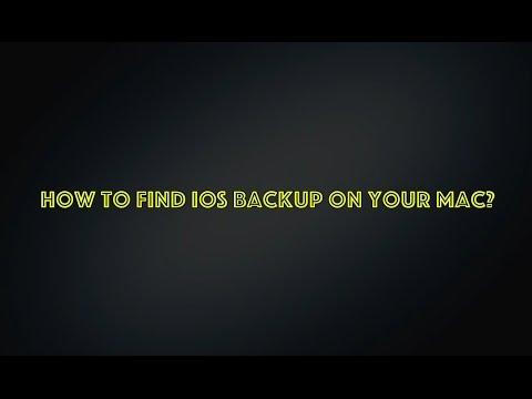 How to find iOS backup copy on your Mac?| Как найти резервную копию iTunes на Mac?