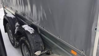 Обзор прицепов МЗСА 817717 с кузовом 3.5 метра .Тент, Пластиковая крышка, 2-х осный .